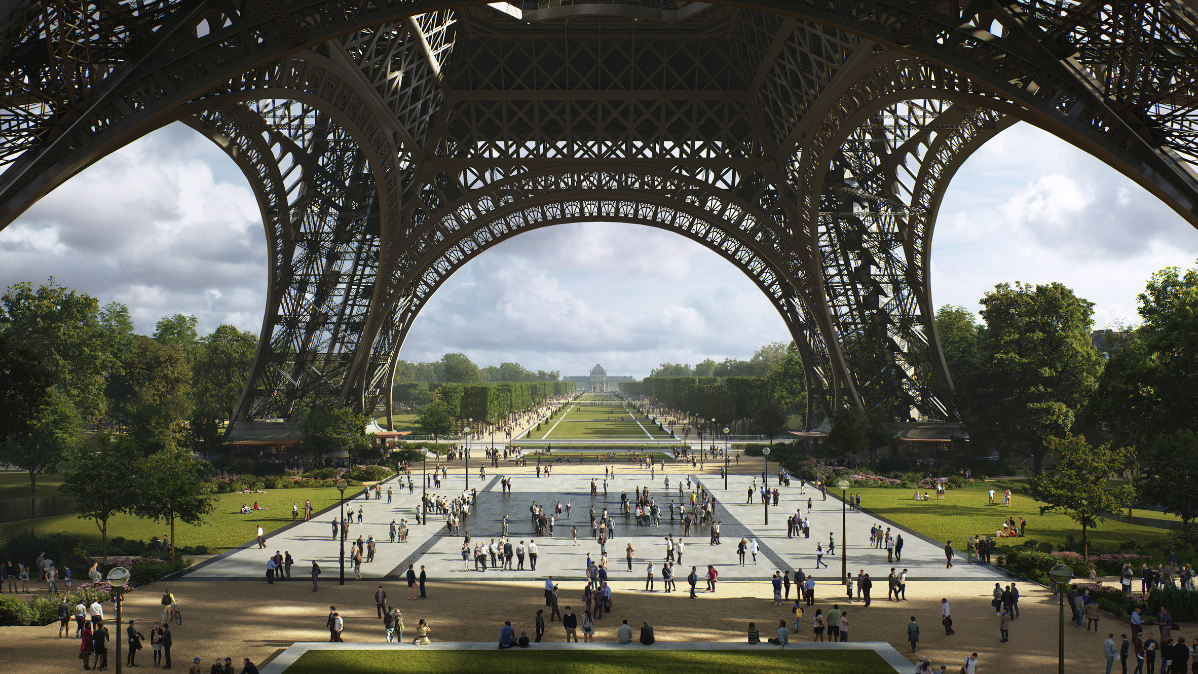 Tour Eiffel : Le plus grand jardin de Paris